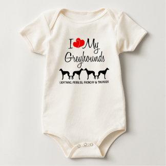 I Liebe meine Windhunde Baby Strampler