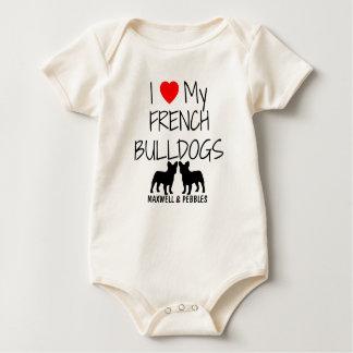 I Liebe meine zwei französischen Bulldoggen Baby Strampler