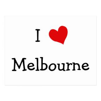 I Liebe Melbourne Postkarte