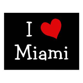 I Liebe Miami Postkarte