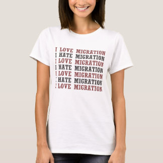 I Liebe-Migration hasse ich Migration usw. usw. T-Shirt