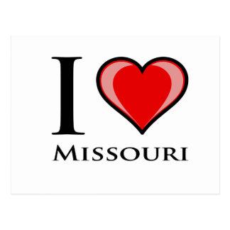 I Liebe Missouri Postkarte