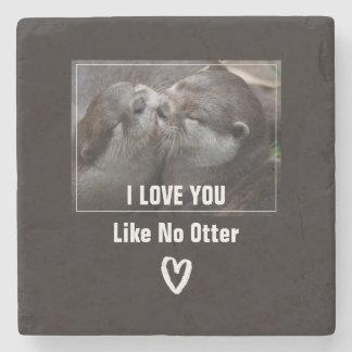 I Liebe mögen Sie kein Otter-niedliches Foto Steinuntersetzer