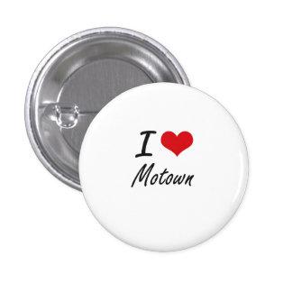 I Liebe MOTOWN Runder Button 2,5 Cm