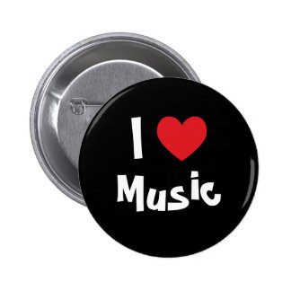 I Liebe-Musik Anstecknadelbutton