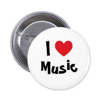 I Liebe-Musik Button
