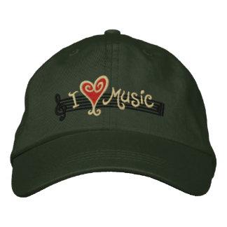 I Liebe-Musik Bestickte Baseballkappen