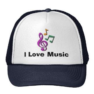 I Liebe-Musik (Hut) Baseballkappe