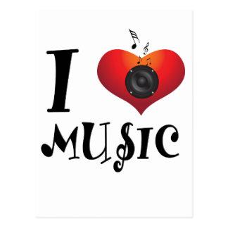 I Liebe-Musik Postkarte