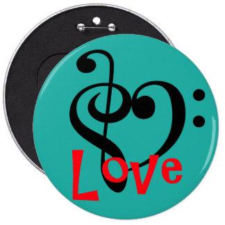 I Liebe-Musik Runder Button 15,3 Cm