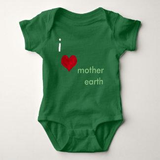 I Liebe-Mutter-Erde Baby Strampler