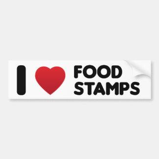 I Liebe-NahrungsmittelBriefmarken Autoaufkleber