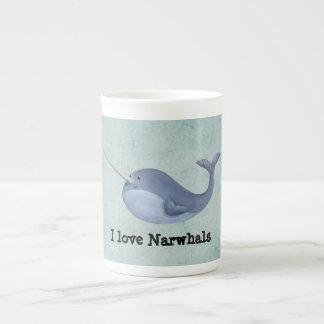 I Liebe Narwhals Prozellantasse