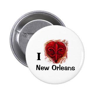 I Liebe New Orleans Runder Button 5,1 Cm