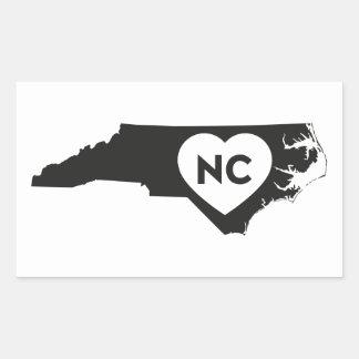 I Liebe-Nord-CarolinaStaats-Aufkleber Rechteckiger Aufkleber