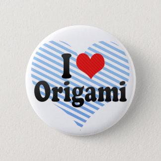 I Liebe Origami Runder Button 5,7 Cm