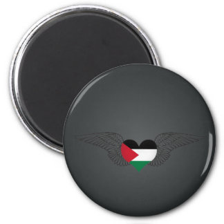 I Liebe Palästina - Flügel Runder Magnet 5,1 Cm