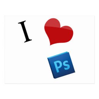 I Liebe Photoshop Postkarte