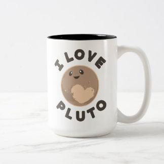 I Liebe Pluto Zweifarbige Tasse