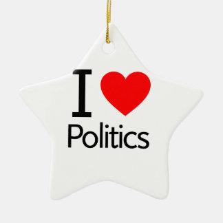 I Liebe-Politik Keramik Ornament