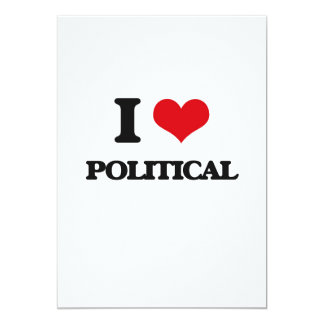 I Liebe politisch Einladungskarte