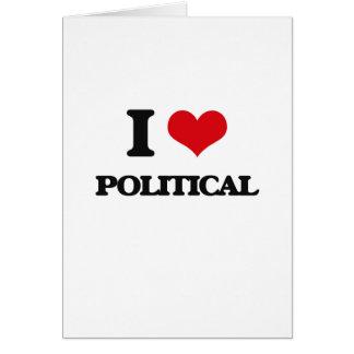I Liebe politisch Karte