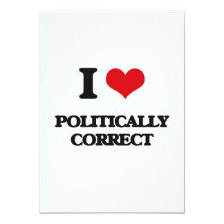 I Liebe politisch korrekt Einladungskarte