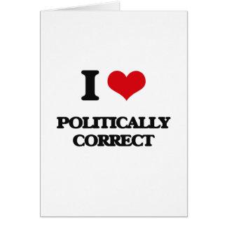 I Liebe politisch korrekt Karte