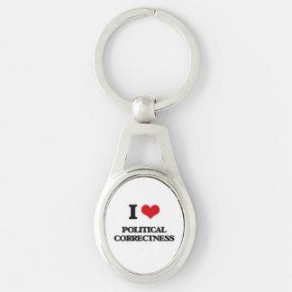 I Liebe-politische Korrektheit Schlüsselanhänger