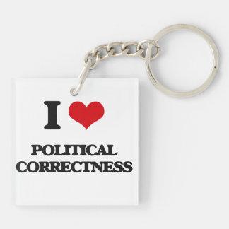 I Liebe-politische Korrektheit Schlüsselanhängern