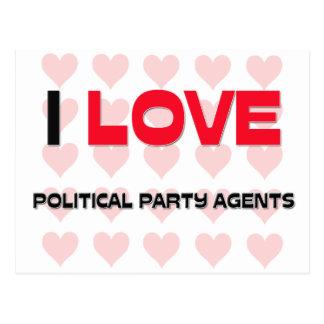 I LIEBE-POLITISCHE PARTY-AGENTEN POSTKARTEN