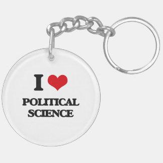 I Liebe-politische Wissenschaft Schlüssel Anhänger