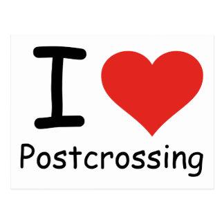 I Liebe Postcrossing Postkarte