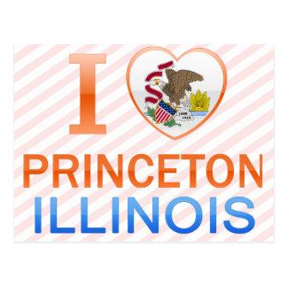 I Liebe Princeton, IL Postkarte