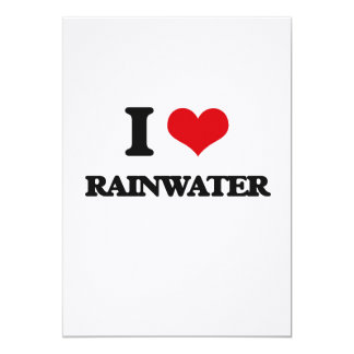 I Liebe-Regenwasser 12,7 X 17,8 Cm Einladungskarte