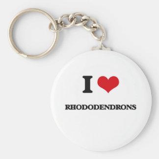 I Liebe-Rhododendren Schlüsselanhänger