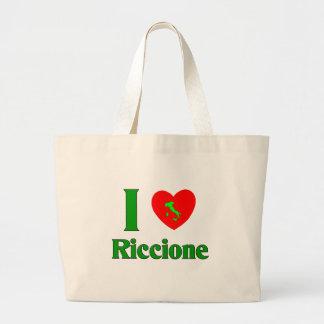 I Liebe Riccione Italien Jumbo Stoffbeutel