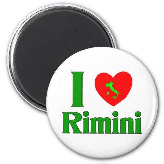 I Liebe Rimini Italien Runder Magnet 5,7 Cm