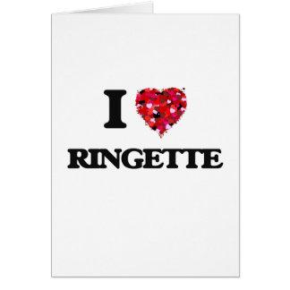I Liebe Ringette Karte
