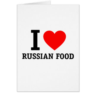 I Liebe-Russe-Nahrung Karte