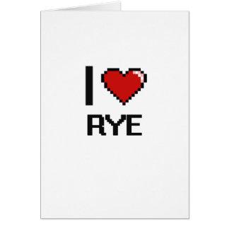 I Liebe Rye Karte