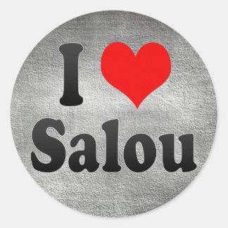 I Liebe Salou, Spanien. Ich Encanta Salou, Spanien Runder Aufkleber