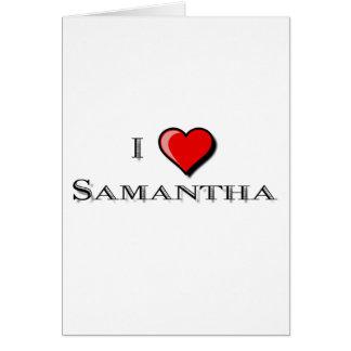 I Liebe Samantha Karte
