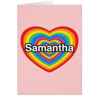 I Liebe Samantha. Liebe I Sie Samantha. Herz Karte