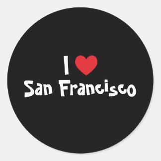 I Liebe San Francisco Runder Aufkleber