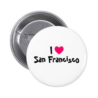I Liebe San Francisco Runder Button 5,7 Cm
