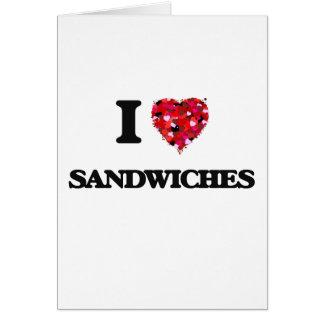 I Liebe-Sandwichnahrungsmittelentwurf Karte