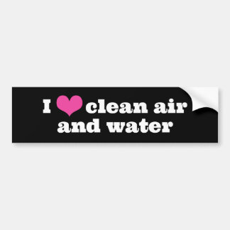I Liebe-saubere Luft-und Wasser-Autoaufkleber Autoaufkleber