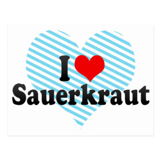 I Liebe-Sauerkraut Postkarte