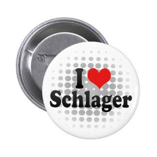I Liebe Schlager Runder Button 5,1 Cm